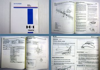 Hyundai H1 H-1 Truck Shop Manual 2000 - 2003 Repair Manual