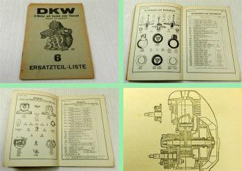 DKW O Motor mit Sockel oder Flansch Ersatzteilliste Ersatzteilkatalog ca 1930