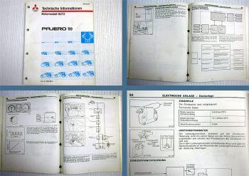 Werkstatthandbuch Mitsubishi Pajero V20 3.0 V6 Motor 6G72 Technische Information