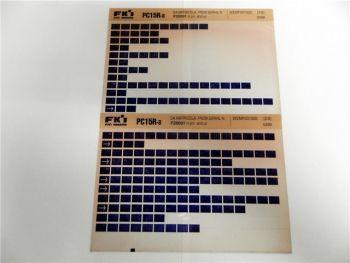 FAI FKI Komatsu PC15R-8 Catalogo Ricambi Spare Parts Catalog Microfiche
