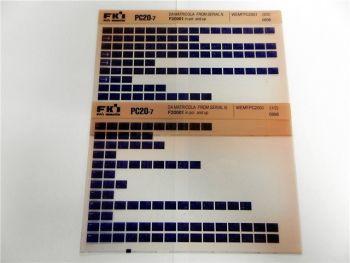 FAI FKI Komatsu PC20-7 Catalogo Ricambi Spare Parts Catalog Microfiche