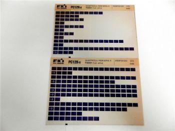 FAI FKI Komatsu PC12R-8 Catalogo Ricambi Spare Parts Catalog Microfiche