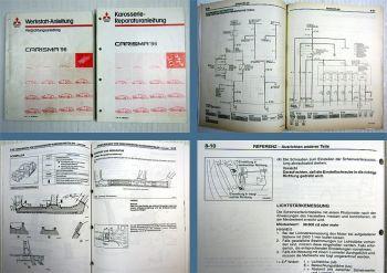 Reparaturanleitung Mitsubishi Carisma DA1A DA2A 1996 Karosserie + Schaltpläne
