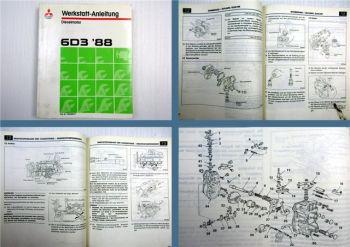 Mitsubishi Canter FH Serie 1988 6D31-T Dieselmotor Werkstatthandbuch