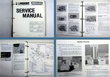 Mariner Mercury 45 50 60 70  Engine Service Manual 1987