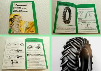 Michelin Reifen für die Landwirtschaft Wald Industrie Einsatz Broschüre 1977/78