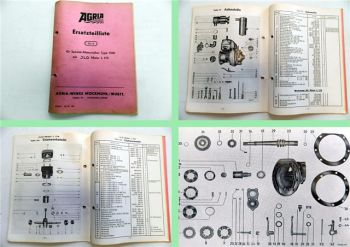 Agria 1300 Spezial-Motormäher Ersatzteilliste mit JLO Motor L 175 1956