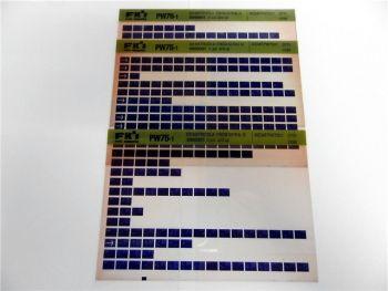 FAI FKI Komatsu PW75-1 Catalogo Ricambi Spare Parts Catalog Microfiche