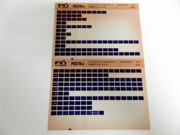 FAI FKI Komatsu PC27R-8 Catalogo Ricambi Spare Parts Catalog Microfiche