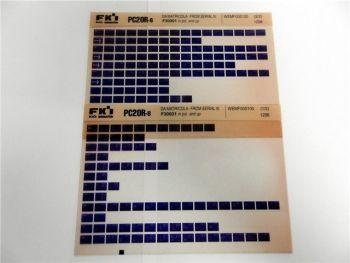 FAI FKI Komatsu PC20R-8 Catalogo Ricambi Spare Parts Catalog Microfiche
