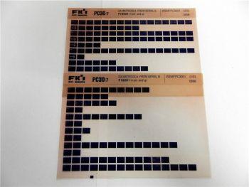 FAI FKI Komatsu PC03-7 Catalogo Ricambi Spare Parts Catalog Microfiche