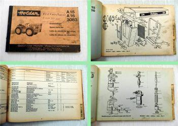 Holder 4169 4669 Sichelmäher Ersatzteilkatalog Spare Parts List 1973
