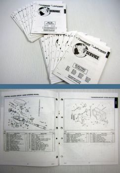 23x OMC Evinrude Johnson electrical, 3 - 300 ENGINE Parts Books 1993