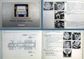 Iveco 160 Turbo 260 Turbo Betriebsanleitung Wartungsanleitung 1987