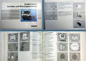 Iveco Eurotech Betriebsanleitung Wartungsanleitung 1992