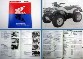 Shop Manual Honda TRX450S TRX450ES Quad Reparaturanleitung in englisch 1999