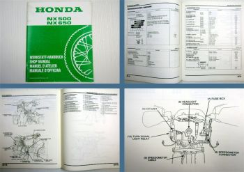 Werkstatthandbuch Honda NX500S NX650S Dominator Shop Manual Supplement