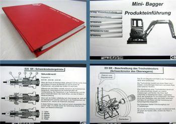 Fiat Kobelco E 9 20 22 25 30 - 45 SR Bagger Produkteinführung Hydraulik Elektrik