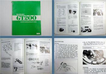 Suzuki GT 200 Wartungsanleitung Werkstatthandbuch 1979