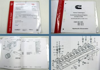 O&K EC350 RH12.5 RH16.5 Hydraulik Excavator Cummins Diesel Engine Parts List