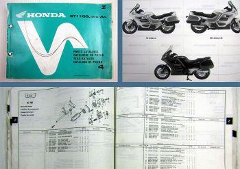 Honda ST 1100 L M N AN Ersatzteilliste Parts Catalogue 1992