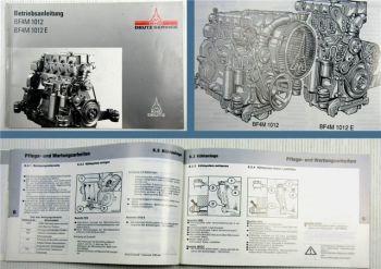 Deutz BF4M1012 BF4M1012E Motor Betriebsanleitung Bedienungsanleitung 10/1991