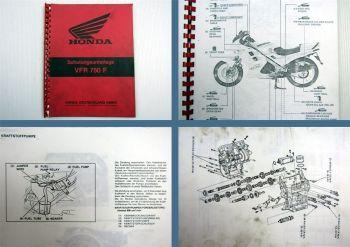 Honda VFR750R Motorrad Schulungsunterlage Kundendienst