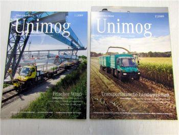 Mercedes Benz Unimog Zeitschrift 1/2009 + 2/2009 Magazin Zeitung