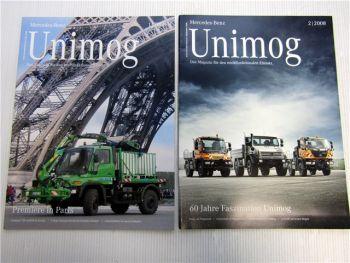 Mercedes Benz Unimog Zeitschrift 1/2008 + 2/2008 Magazin Zeitung
