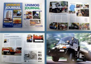 Mercedes Benz Unimog Zeitschrift 1/2000 + 2/2000 Magazin Zeitung