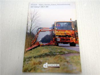 Unimog U300 U400 Dücker Mähen Mulchen Kehren Holzzerkleinerung