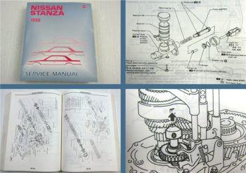 Nissan Stanza Model U12 Series Service Manual Werkstatthandbuch 1990