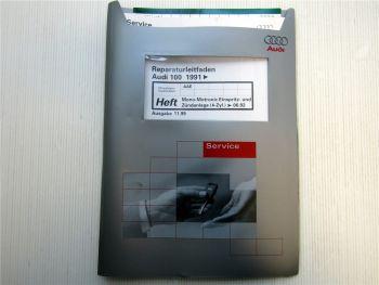 Reparaturleitfaden Audi 100 C4 A6 2,0l Motor AAE Mono Motronic Zündung >06.92