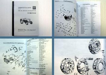 Lanz Hela D138 D45 Traktor Ersatzteilliste Ersatzteilkatalog