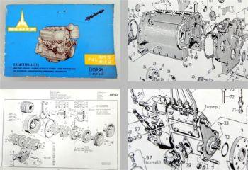 Deutz F4L811D F4L812D Ersatzteilliste Bildkatalog Spare Parts List ca 1968