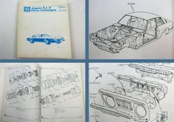 Jaguar XJ6 L C Daimler Souvereign LWB Serie 2 Ersatzteilliste Parts List 07/1978