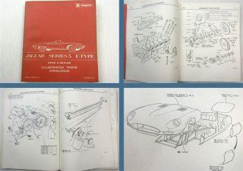 Jaguar Series 3 E-Type Open 2-Seater Roadster V12 Ersatzteilliste Parts List