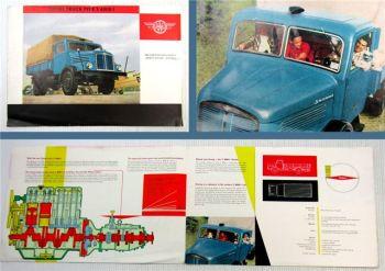 Prospekt IFA S4000-1 Diesel Truck Ernst Grube Werdau 1959 DDR Brochure