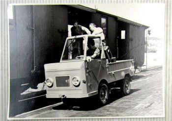 originales Pressefoto Kleintransporter Multicar 22 Typ P DDR 1964