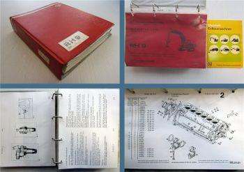 O&K RH9 Betriebsanleitung + Ersatzteilliste + Ausrüstungen + Motor ca. 1974