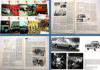 10 x KFT Kraftfahrzeug Technik MZ Simson Multicar Barkas Shiguli Wartburg  1974
