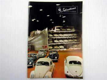 VW Informationen Nr. 45 / 1959 Werkszeitschrift Käfer Bus T1