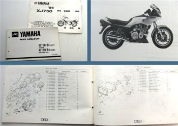 Yamaha XJ750 1983 Motorcycle Parts Catalogue Parts List Ersatzteilliste