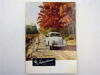 VW Informationen Nr. 56 / 1960 Werkszeitschrift Käfer Bus T1