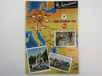VW Informationen Nr. 54/55 1960 Werkszeitschrift Käfer Bus T1
