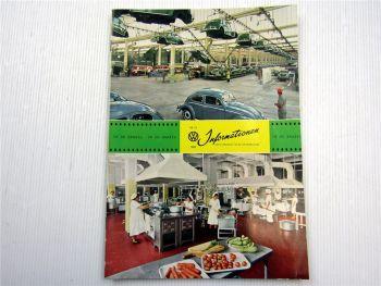 VW Informationen Nr. 50 / 1960 Werkszeitschrift Käfer Bus T1