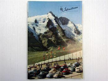 VW Informationen Nr. 47 / 1960 Werkszeitschrift Käfer Bus T1