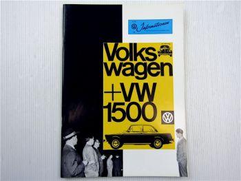 VW Informationen Nr. 63 / 1961 Werkszeitschrift Käfer Bus T1 Typ 3