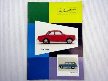 VW Informationen Nr. 59 / 1961 Werkszeitschrift Käfer Bus T1 Typ 3