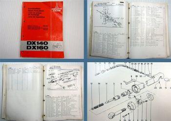 Deutz DX 140 DX 160 Traktor Ersatzteilliste Original Spare Parts 05/1978